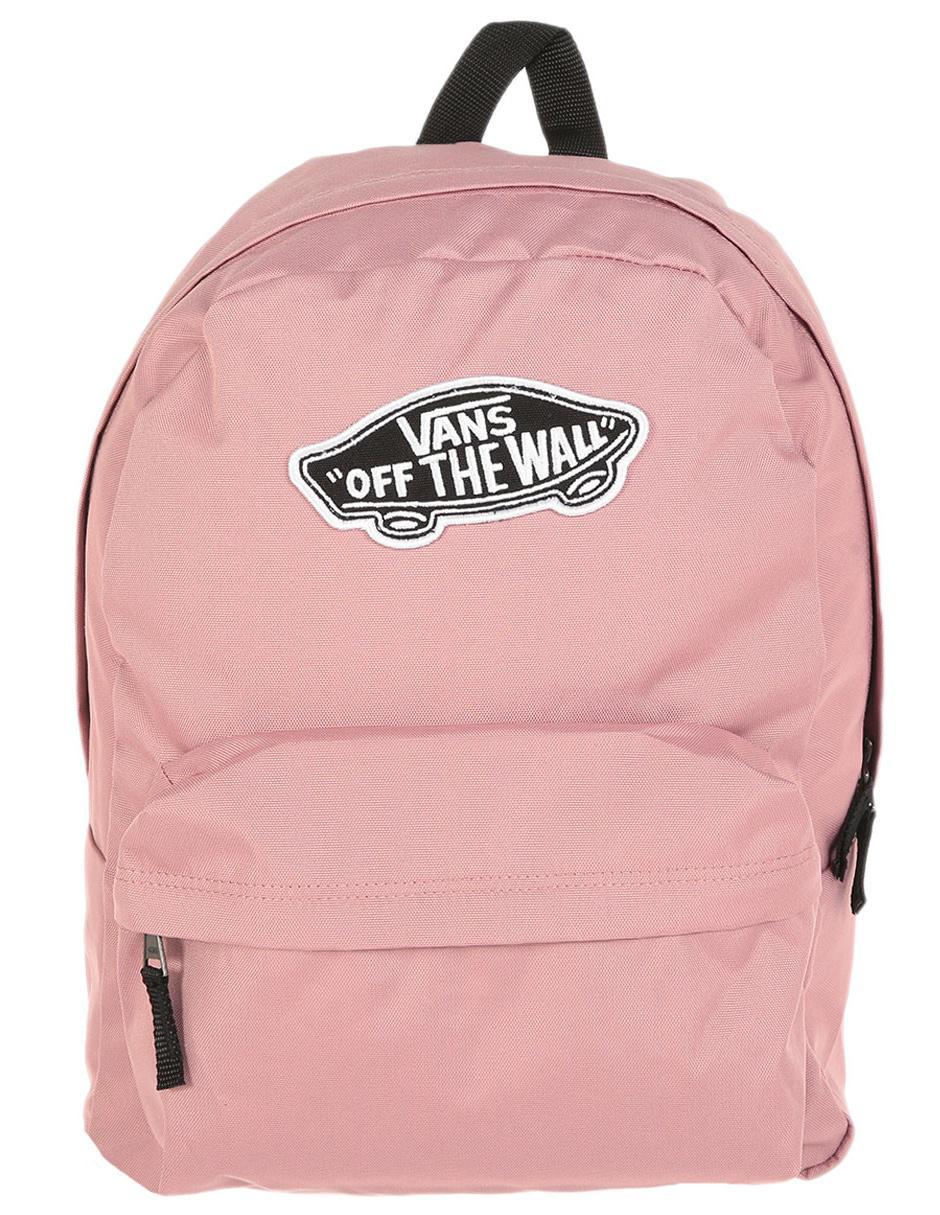 mochila vans negra y rosa
